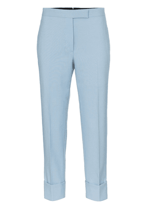 Thom Browne slim-fit cropped wool-blend trousers - Blue