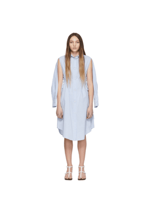 MM6 Maison Margiela Blue & White Stripe Cotton Open Sleeve Dress