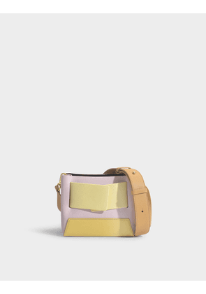 Dinky Handbag in Pink and Yellow Calfskin