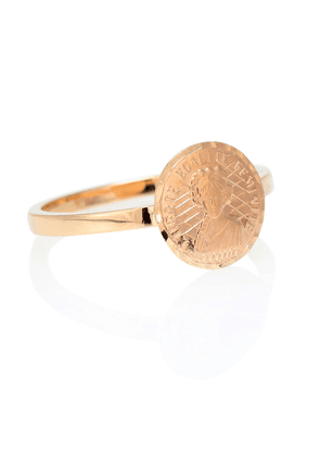 Louise d'Or Coin 18kt gold pinkie ring