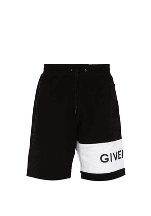 Givenchy - Logo Embroidered Cotton Jersey Shorts - Mens - Black