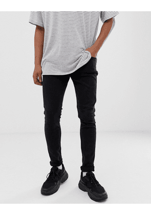 Weekday Form super skinny jeans in tuned black