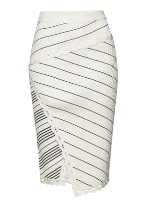 Jonathan Simkhai Zig Zag Trim Pencil Skirt