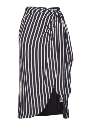 Jonathan Simkhai Multimedia Stripe Wrap Front Skirt