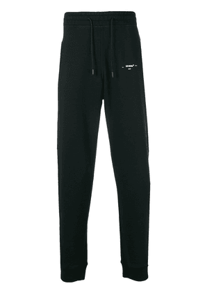 Off-White graphic tapered track pants - Black