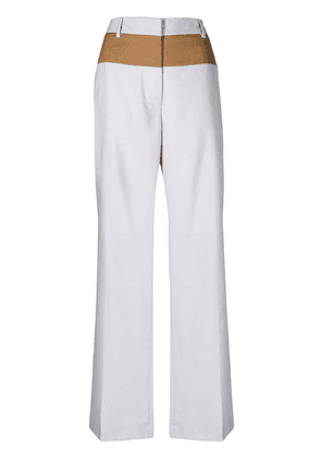 Marni contrast tailored trousers - Blue