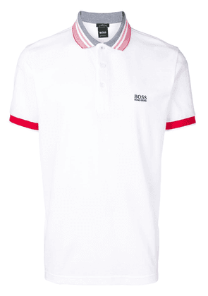 Boss Hugo Boss logo short-sleeve polo shirt - White