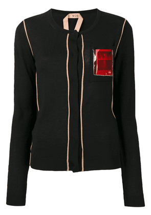 No21 Post Card knitted cardigan - Black