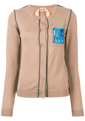 No21 Post Card knitted cardigan - Brown