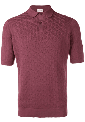 John Smedley Popplewell knitted polo shirt - Red
