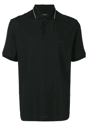 Z Zegna shortsleeved polo shirt - Black