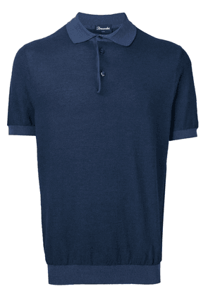 Drumohr short sleeve polo shirt - Blue