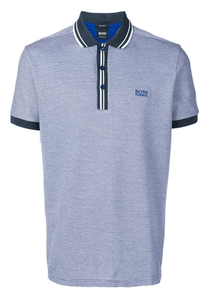 Boss Hugo Boss logo short-sleeve polo shirt - Blue