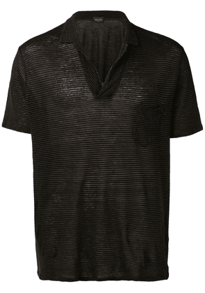 Roberto Collina striped polo shirt - Brown