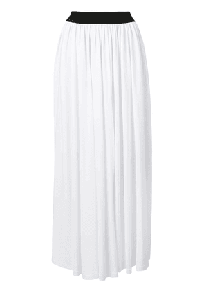 MSGM pleated maxi skirt - White