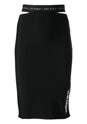 Marcelo Burlon County Of Milan Visione print skirt - Black