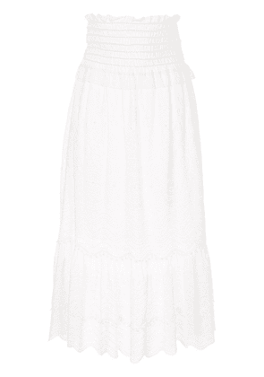 Sea tiered lace skirt - White