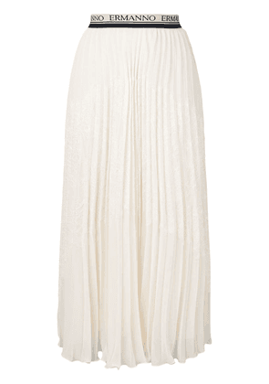 Ermanno Ermanno pleated skirt - Neutrals