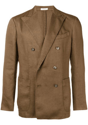Boglioli double breasted lightweight blazer - Brown