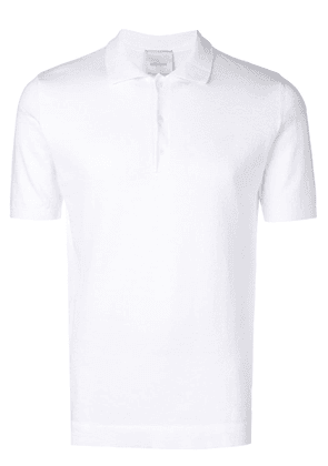 Leqarant short-sleeve polo top - White