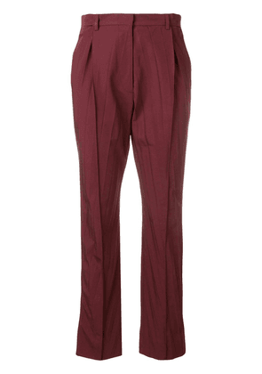 Valentino cropped pleated trousers - Red