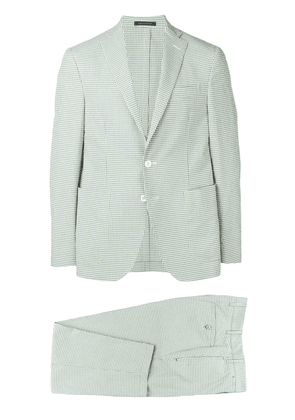 The Gigi check two piece suit - Green