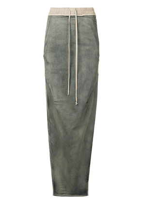 Rick Owens side slit denim effect skirt - Grey