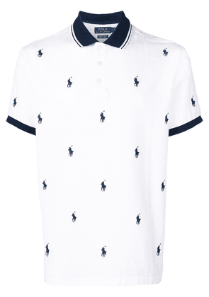 Polo Ralph Lauren logo embroidered polo shirt - White