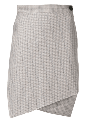 Vivienne Westwood Anglomania asymmetric check skirt - Brown