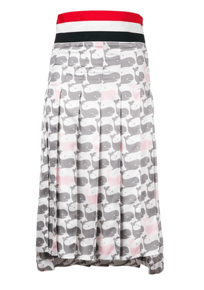 Thom Browne Supersized Waistband Whale Skirt - Grey