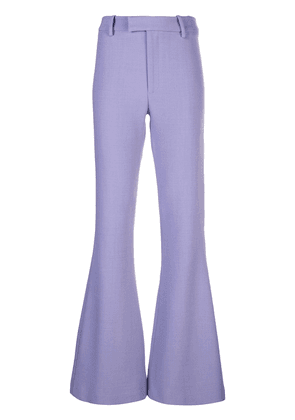 Smythe mid-rise flared trousers - Purple