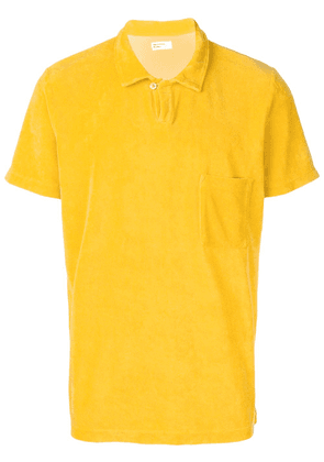 Universal Works Vacation fleece polo shirt - Yellow