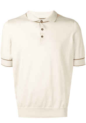 Brunello Cucinelli fine knit polo shirt - Neutrals