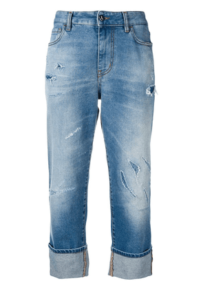 Just Cavalli distressed cropped jeans - Blue