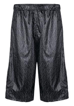Cottweiler all-over logo print shorts - Blue