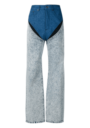 Y / Project contrasting panel jeans - White