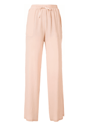 Semicouture side slit trousers - Pink