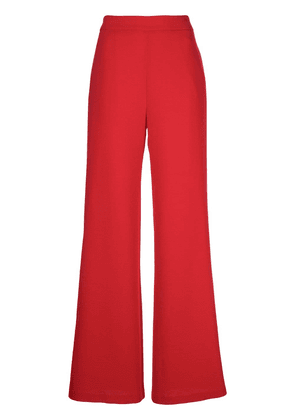 Brandon Maxwell side zip fastening trousers - Red