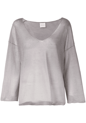Fine Edge loose fit jersey top - Grey