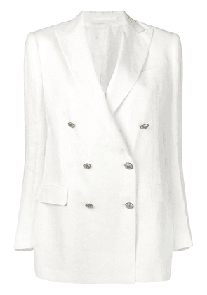 Tagliatore double breasted blazer - White