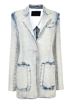 Proenza Schouler Acid Wash Denim Blazer - Blue