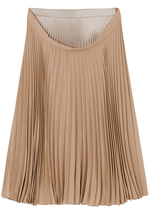 Burberry double-waist pleated skirt - Neutrals