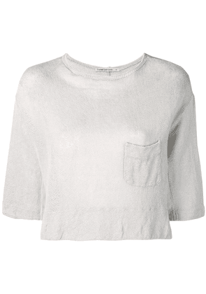 Transit casual cropped top - Grey