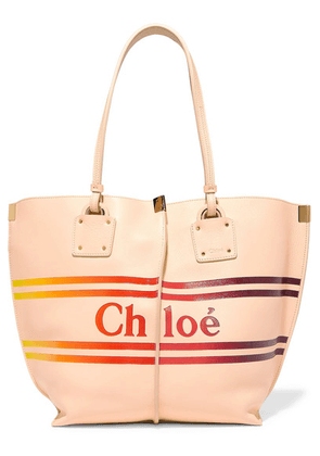 Chloé - Vick Printed Textured-leather Tote - Cream