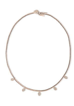 Brooke Gregson - Sterling Silver, 14-karat Rose Gold, Silk And Diamond Necklace - one size