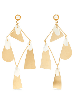 Annie Costello Brown - Galante Gold-tone Pearl Earrings - one size