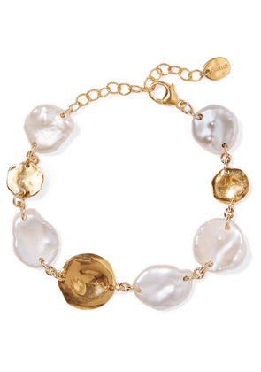 Chan Luu - Gold-plated Pearl Bracelet - one size