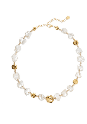 Chan Luu - Gold-plated Pearl Necklace - one size