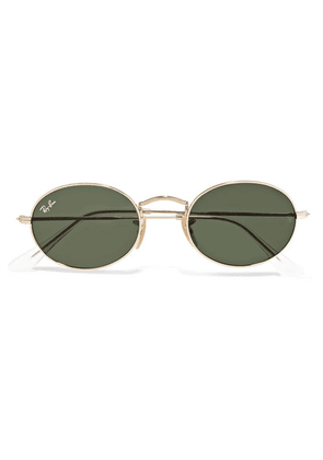 Ray-Ban - Oval-frame Gold-tone Sunglasses - one size