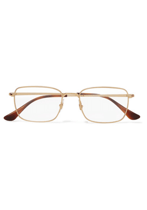 Ray-Ban - Square-frame Gold-tone Optical Glasses - one size